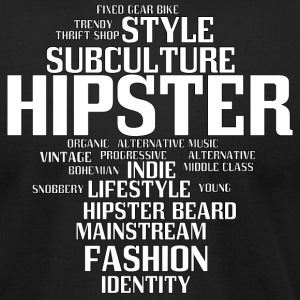 hipster - Men's T-Shirt by American Apparel