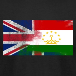 British Tajik Half Tajikistan Half UK Flag - Men's T-Shirt by American Apparel
