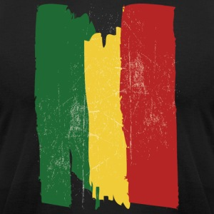 Ethiopian flag - Men's T-Shirt by American Apparel