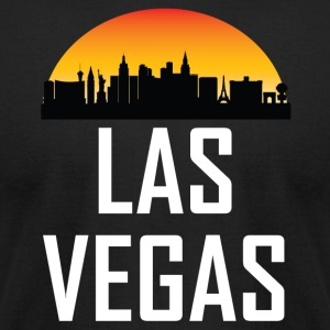 Sunset Skyline Silhouette of Las Vegas NV - Men's T-Shirt by American Apparel