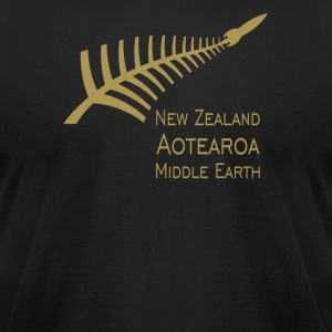 New Zealand aotearoa middle earth - Men's T-Shirt by American Apparel