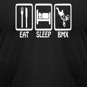 Eat Sleep BMX Funny Standard - Men's T-Shirt by American Apparel