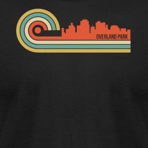 Retro Style Overland Park Kansas Skyline - Men's T-Shirt by American Apparel