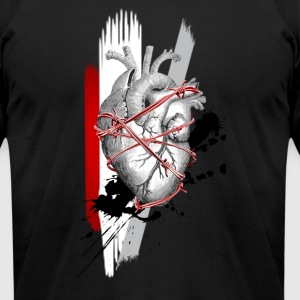 Heart Attack - Men's T-Shirt by American Apparel