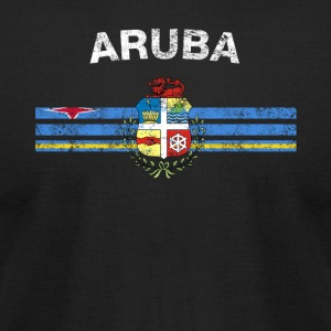 Aruba Flag Shirt - Aruba Emblem & Aruba Flag Shirt - Men's T-Shirt by American Apparel