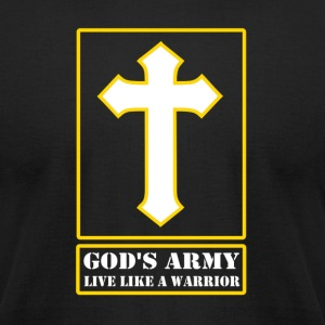 God's Army Live Like A Warrior - Men's T-Shirt by American Apparel