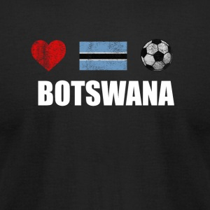 Botswana Football Shirt - Botswana Soccer Jersey - Men's T-Shirt by American Apparel