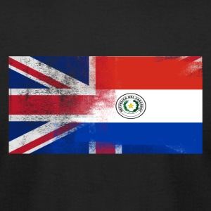 British Paraguayan Half Paraguay Half UK Flag - Men's T-Shirt by American Apparel