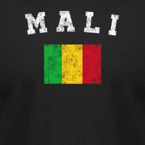Malian Flag Shirt - Vintage Mali T-Shirt - Men's T-Shirt by American Apparel