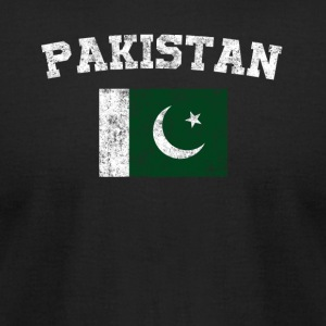 Pakistani Flag Shirt - Vintage Pakistan T-Shirt - Men's T-Shirt by American Apparel