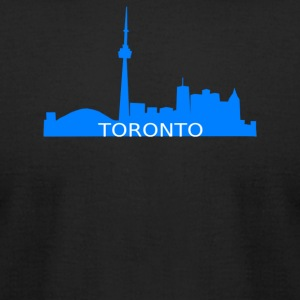Toronto Skyline - Men's T-Shirt by American Apparel