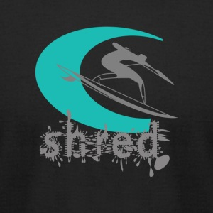 FIT - Shred. Surf logo. - Men's T-Shirt by American Apparel