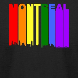 Montreal Quebec Skyline Rainbow LGBT Gay Pride - Men's T-Shirt by American Apparel