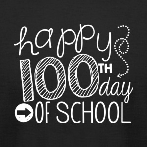 Happy 100th Day Of School T Shirt - Men's T-Shirt by American Apparel