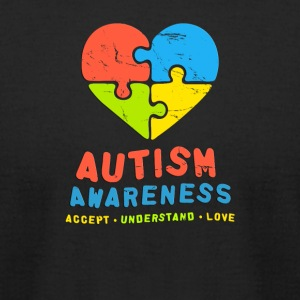 Autism Awareness Accept Understand & Love - Men's T-Shirt by American Apparel