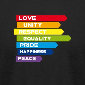 gay Pride lbgt csd unity equality Love lesbian rai - Men's T-Shirt by American Apparel