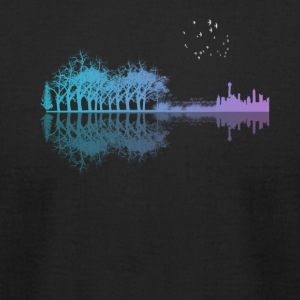 Guitar in the city - Men's T-Shirt by American Apparel