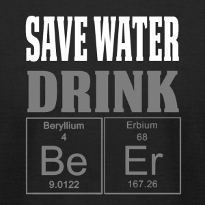 Funny Periodic Table Shirt Save Water Drink Beer Grey - Men's T-Shirt by American Apparel