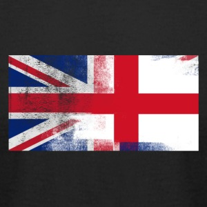 British English Half England Half UK Flag - Men's T-Shirt by American Apparel