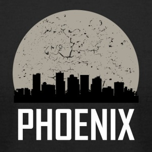 Phoenix Full Moon Skyline - Men's T-Shirt by American Apparel