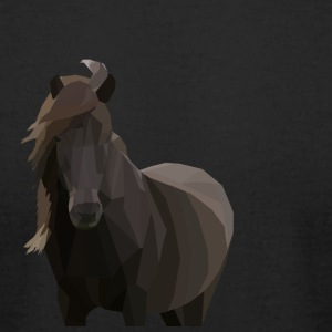 Low Poly Icelandic Horse - Men's T-Shirt by American Apparel