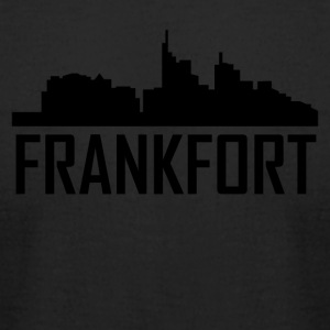 Frankfort Kentucky City Skyline - Men's T-Shirt by American Apparel