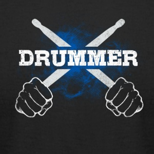 Drummer Drum Sticks Funny Love Percussion Rock - Men's T-Shirt by American Apparel