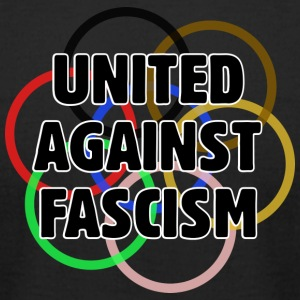 United Against Fascism - Men's T-Shirt by American Apparel