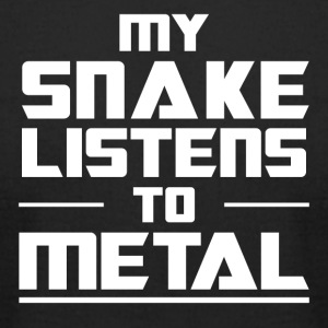 My Snake listens to metal - Men's T-Shirt by American Apparel