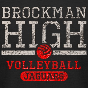 Brockman High Volleyball Jaguars - Men's T-Shirt by American Apparel