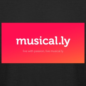 Musical.ly Muser Design - Men's T-Shirt by American Apparel