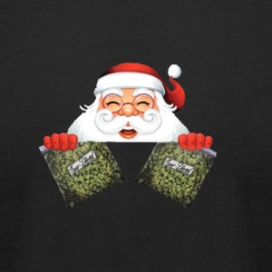 Santa with marijuana gifts - Men's T-Shirt by American Apparel