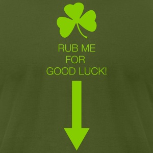 Rub Me for Good Luck - Men's T-Shirt by American Apparel