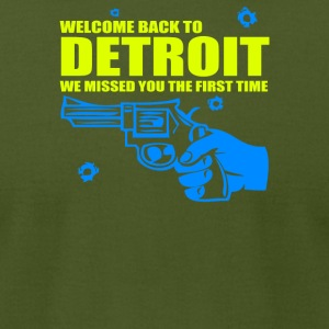 Welcome To Detroit - Men's T-Shirt by American Apparel