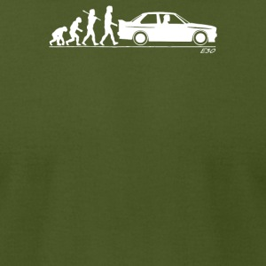 Evolution of Man BMW M3 E30 - Men's T-Shirt by American Apparel