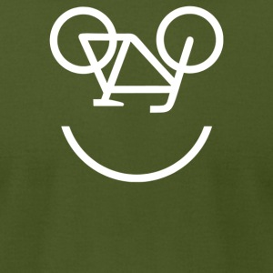 Bicycle Face - Men's T-Shirt by American Apparel
