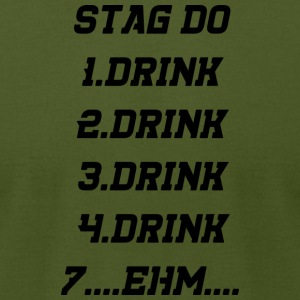 drinking drunk - Men's T-Shirt by American Apparel