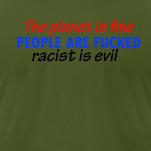 racist design - Men's T-Shirt by American Apparel