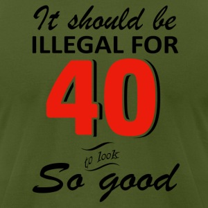 Funny 40th year old birthday designs - Men's T-Shirt by American Apparel