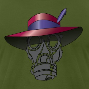 Zoot suit Hat and Gas Mask - Men's T-Shirt by American Apparel