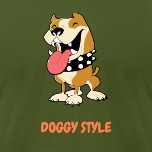 DOGGY STYLE right here - Men's T-Shirt by American Apparel