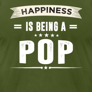 Happiness Is Being a POP - Men's T-Shirt by American Apparel