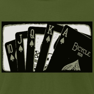 Cards Royal Flush - Men's T-Shirt by American Apparel