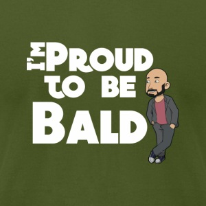 I'm Proud To Be Bald White - Men's T-Shirt by American Apparel