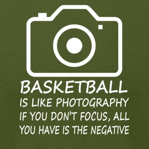 Basketball-Like Photography-cool shirt,geek hoodie - Men's T-Shirt by American Apparel