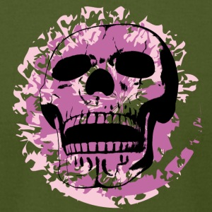 skull splotch pink - Men's T-Shirt by American Apparel