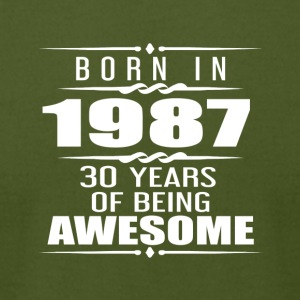 Born in 1987 30 Years of Being Awesome - Men's T-Shirt by American Apparel