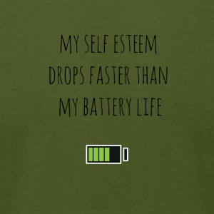 My self esteem drops faster - Men's T-Shirt by American Apparel