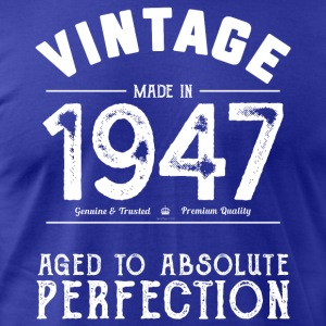 Funny 70th Birthday Gift: Vintage Made in 1947 - Men's T-Shirt by American Apparel