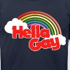 Hella gay - Men's Fine Jersey T-Shirt